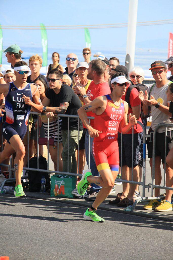 Photographie sportive triathlon course à pied Mola Luis World Triathlon Series WTS Final Lausanne Suisse