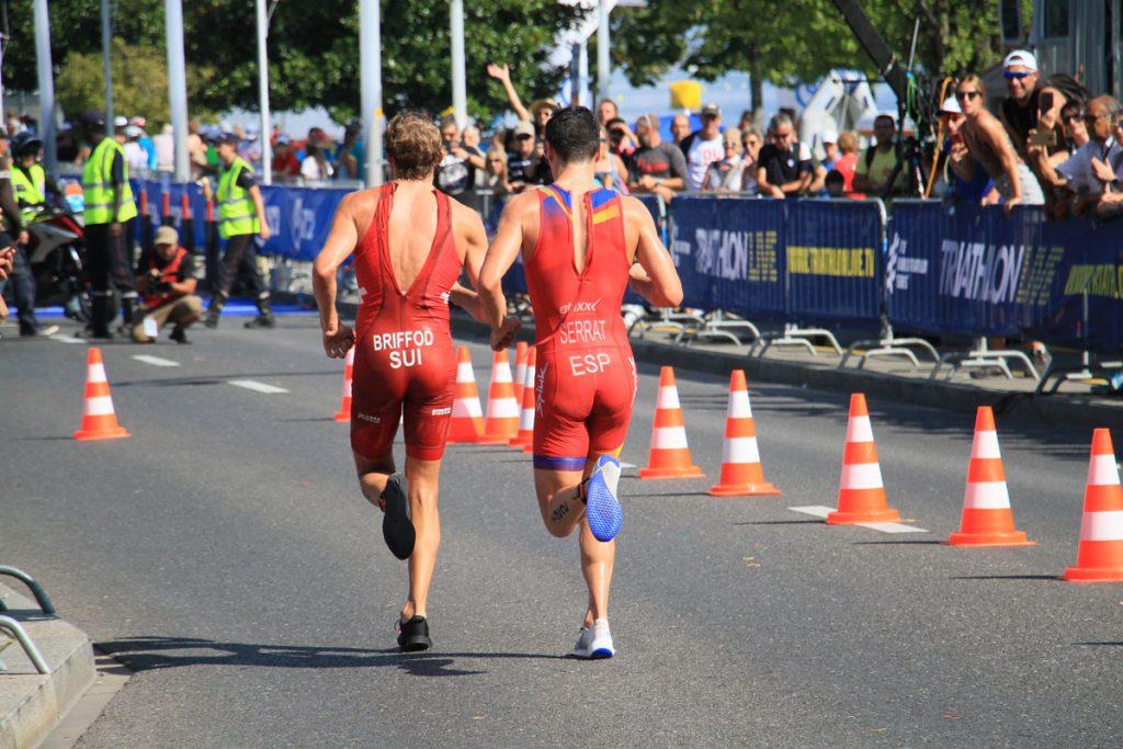 Photographie sportive triathlon course à pied Briffod Serrat World Triathlon Series WTS Final Lausanne Suisse