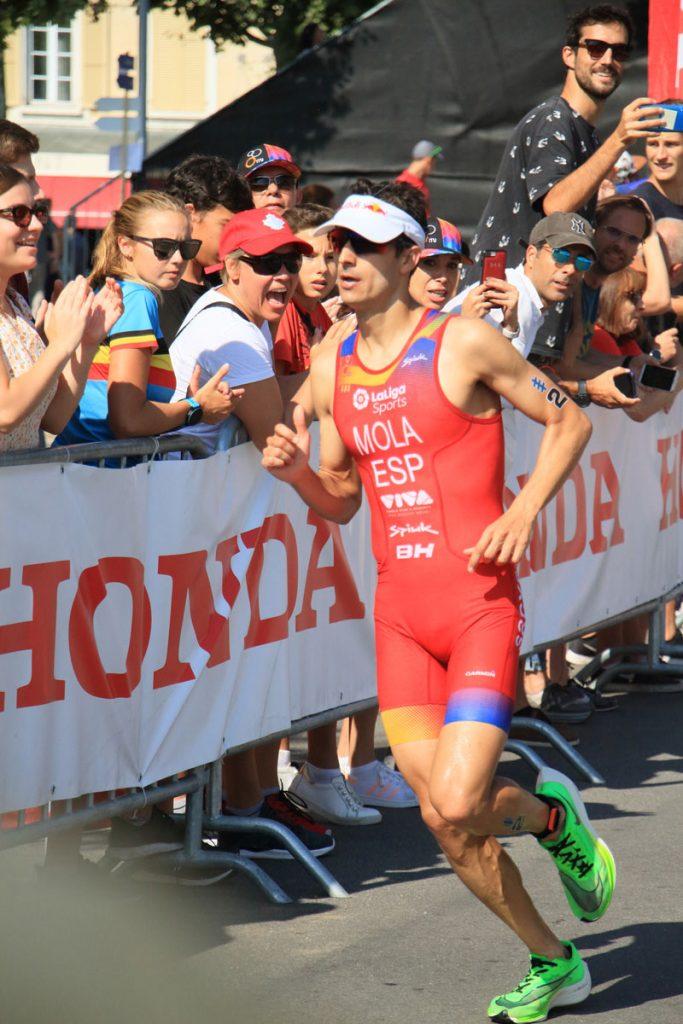 Photographie sportive triathlon course à pied Mola World Triathlon Series WTS Final Lausanne Suisse