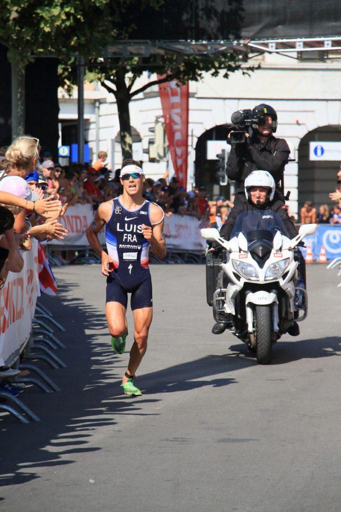 Photographie sportive triathlon course à pied Luis World Triathlon Series WTS Final Lausanne Suisse