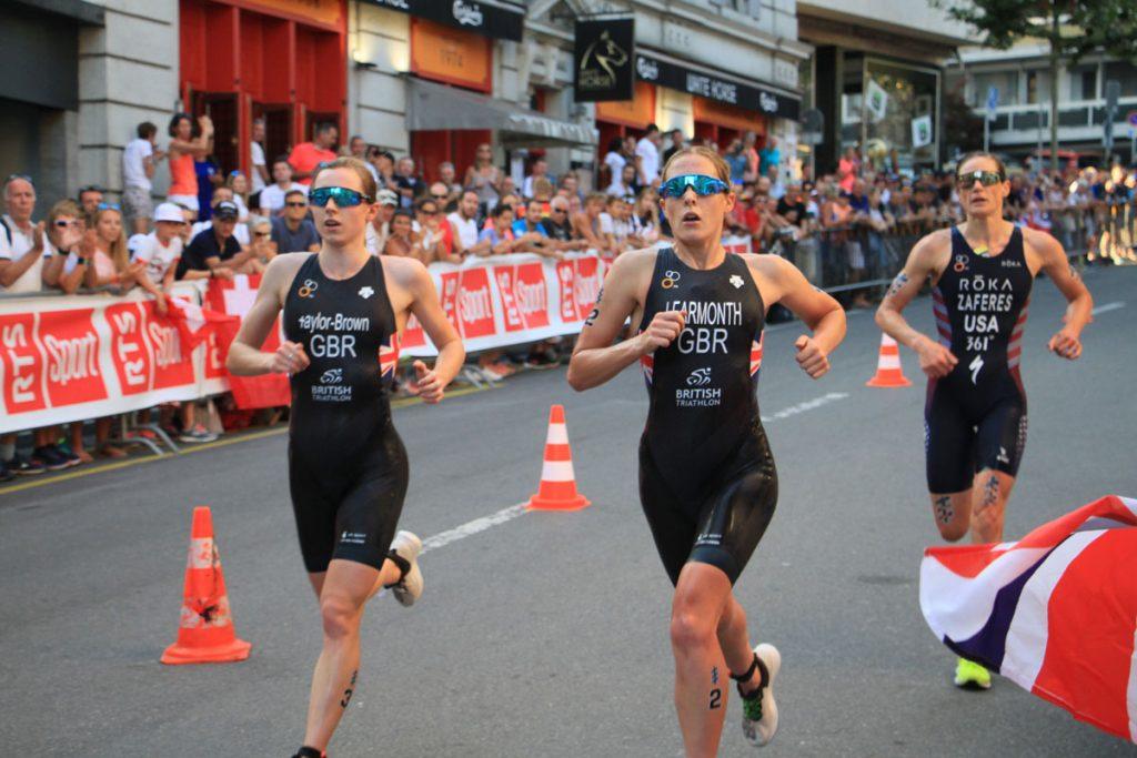 Photographie sportive triathlon course à pied duel Taylor-Brown Learmonth Zaferes World Triathlon Series WTS Final Lausanne Suisse