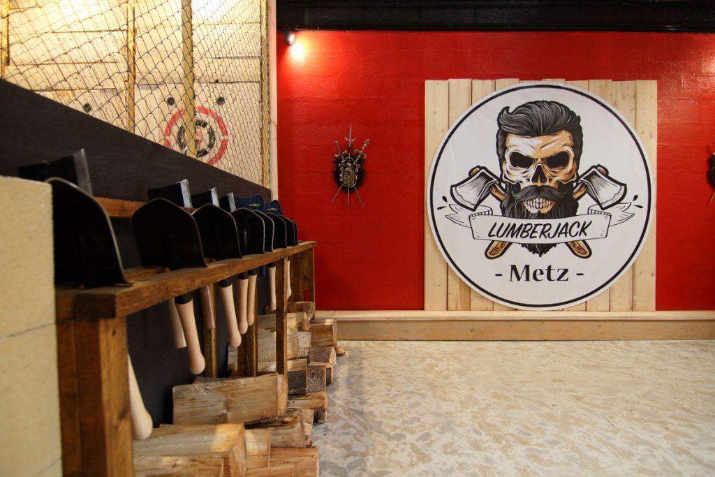 Espace Accueil Pelles Lumberjack – Lancer de haches et shuriken Metz