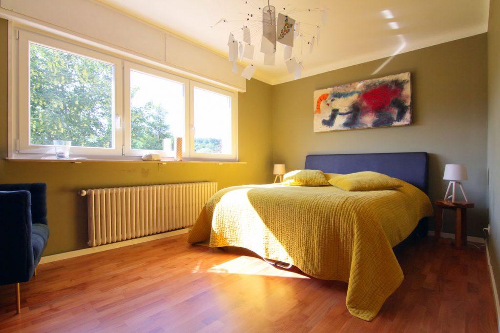 Photographie immobilière chambre lumineuse maison Thionville