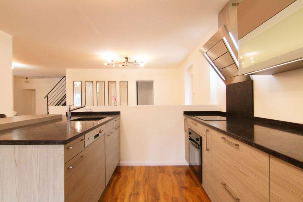 Photographie immobilière cuisine ouverte maison Thionville