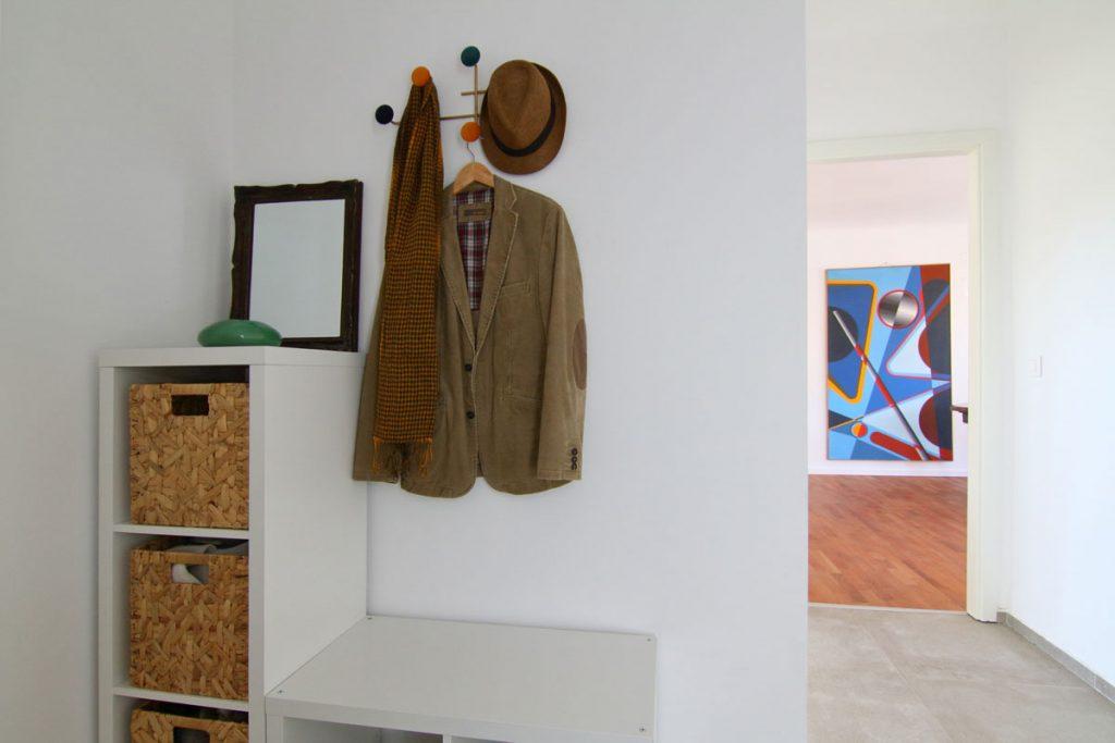 Photographie immobilière entrée salon Art Déco appartement Thionville