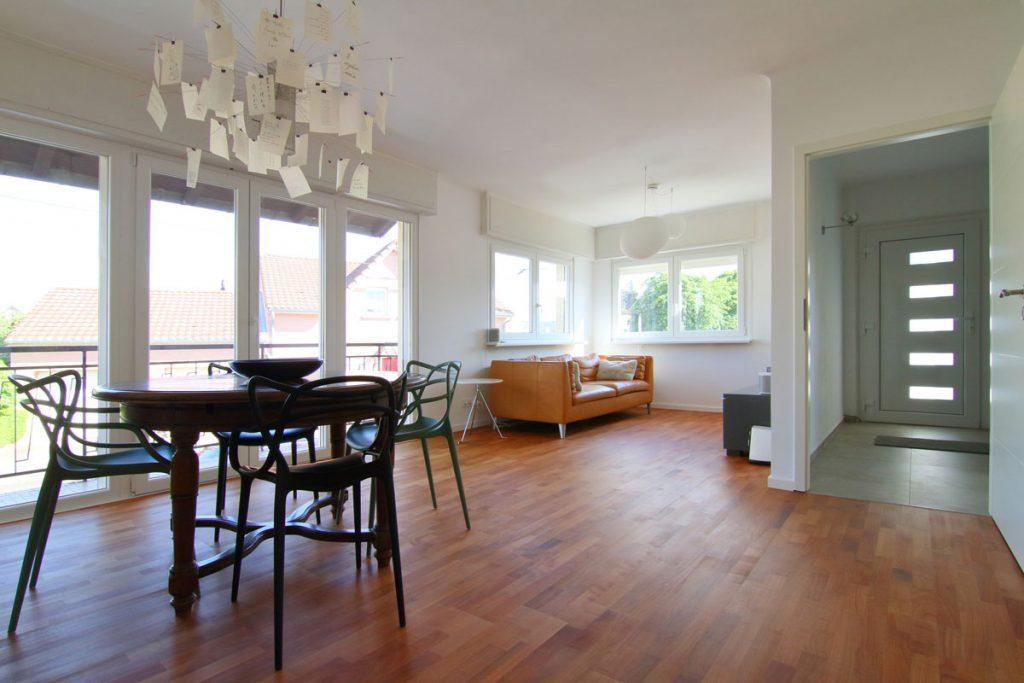 Photographie immobilière salon séjour appartement Thionville