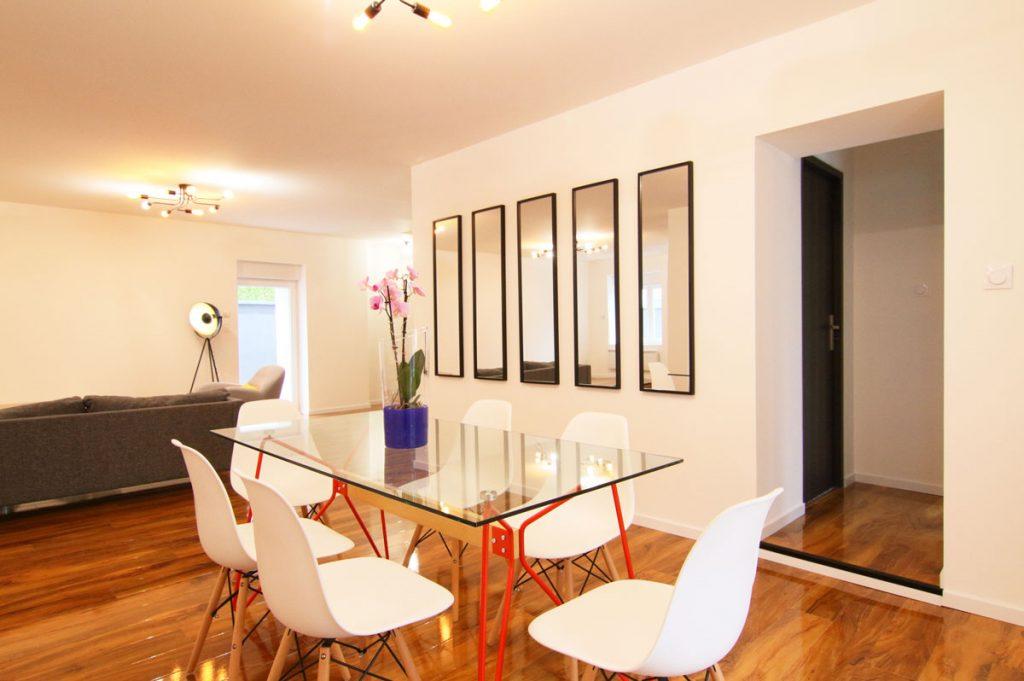 Photographie immobilière salle à manger mirroirs maison Thionville