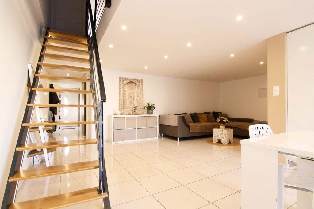 Photographie immobilière escalier séjour maison Yutz
