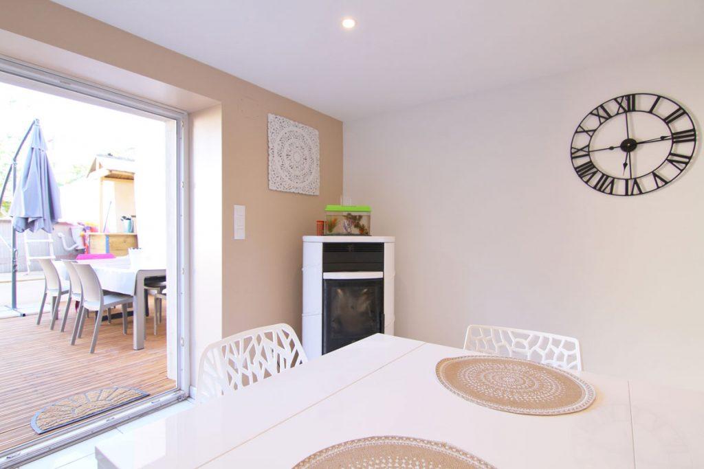 Photographie immobilière salon terrasse maison Yutz